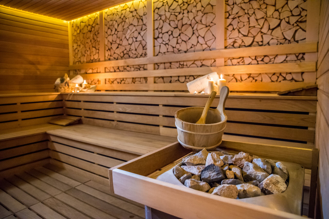 spa sauna room